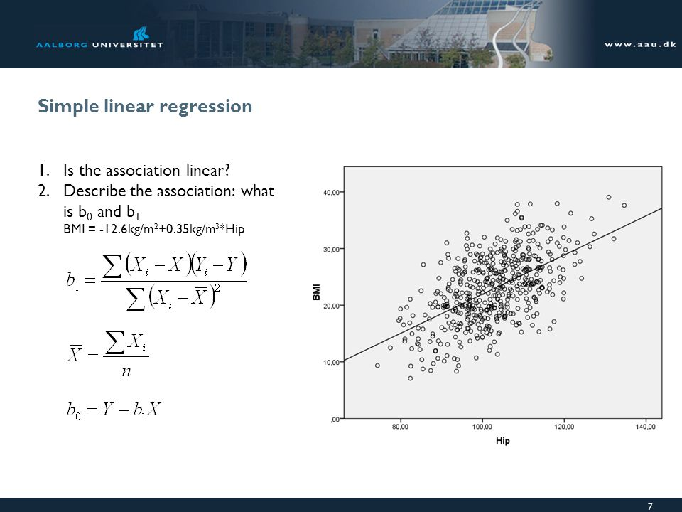 Simple linear regression 1.Is the association linear.