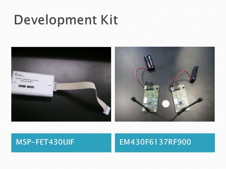 MSP-FET430UIFEM430F6137RF900