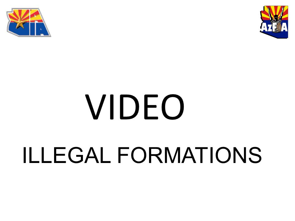 VIDEO ILLEGAL FORMATIONS