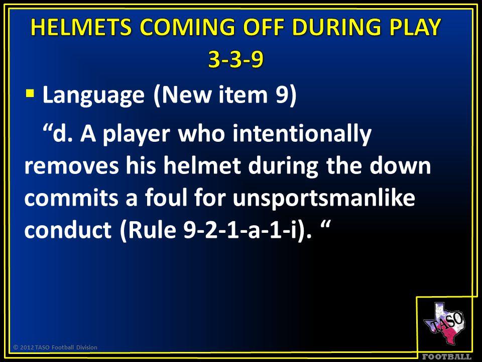 FOOTBALL  Language (New item 9) d.