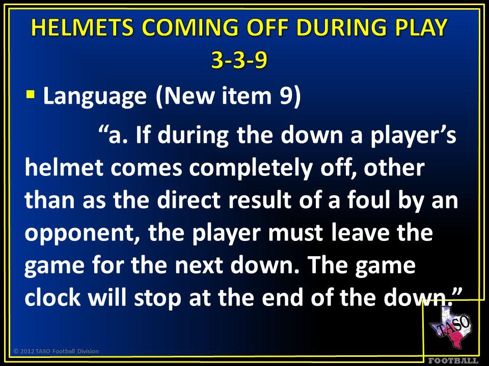 FOOTBALL  Language (New item 9) a.