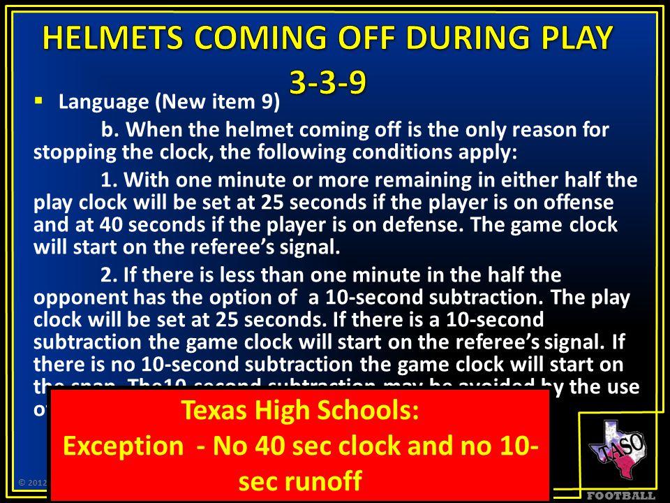 FOOTBALL  Language (New item 9) b.