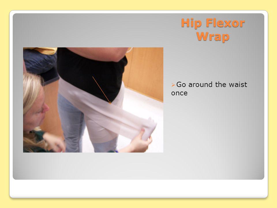 Hip Flexor Wrap  Go around the waist once
