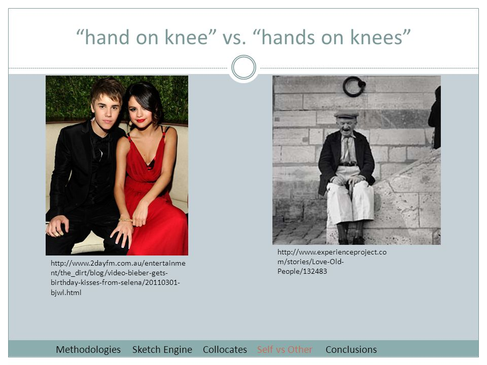 hand on knee vs.