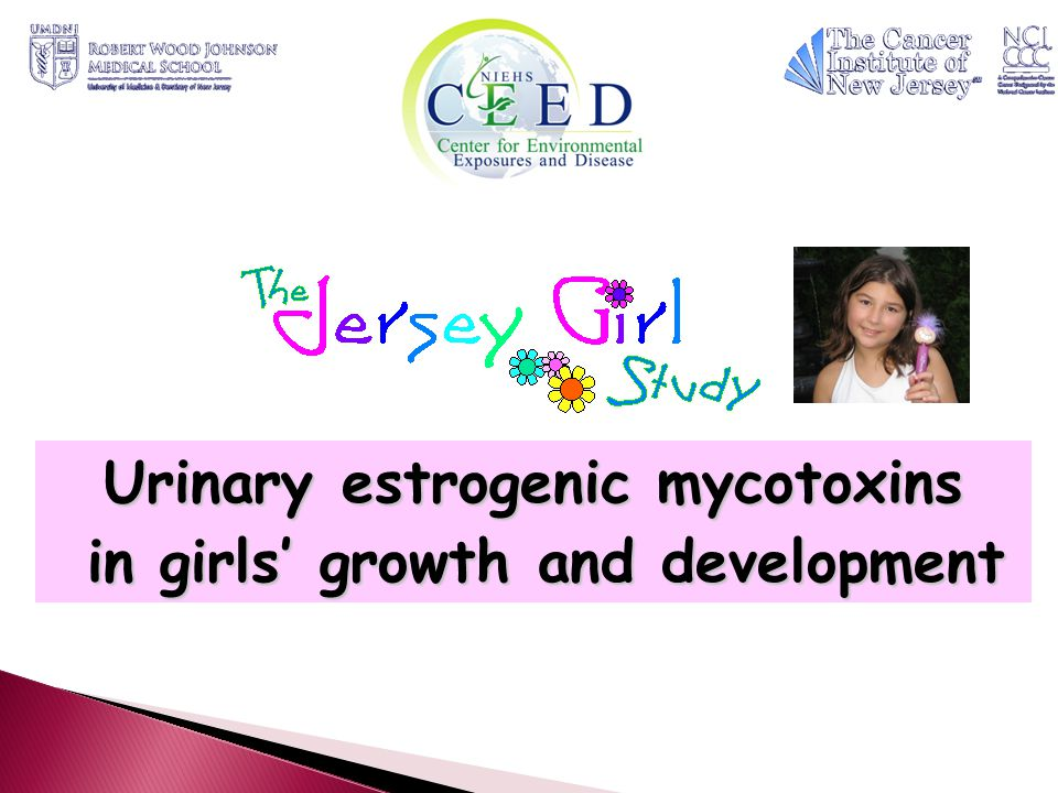 Urinary estrogenic mycotoxins in girls' growth and development in girls' growth and development