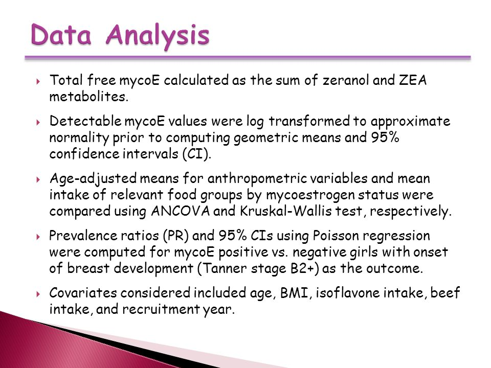  Total free mycoE calculated as the sum of zeranol and ZEA metabolites.