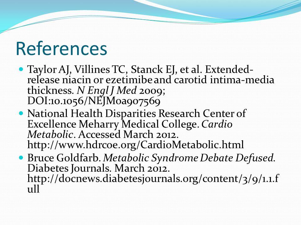 References Taylor AJ, Villines TC, Stanck EJ, et al.