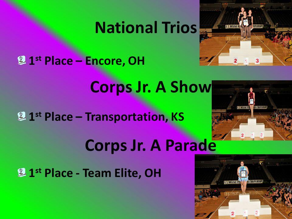 Men's Solo 1 st Place – Dallas Myers 1st Place – Encore, OH 1 st Place – Encore, OH National Twirl Teams National Dance Twirl Teams