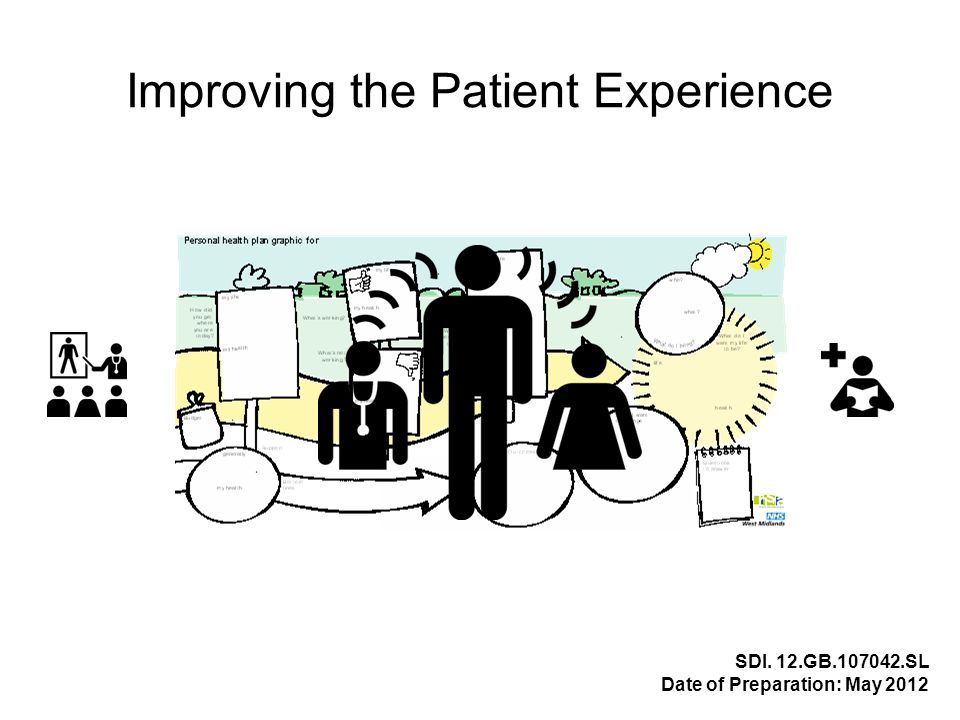 Improving the Patient Experience SDI. 12.GB.107042.SL Date of Preparation: May 2012