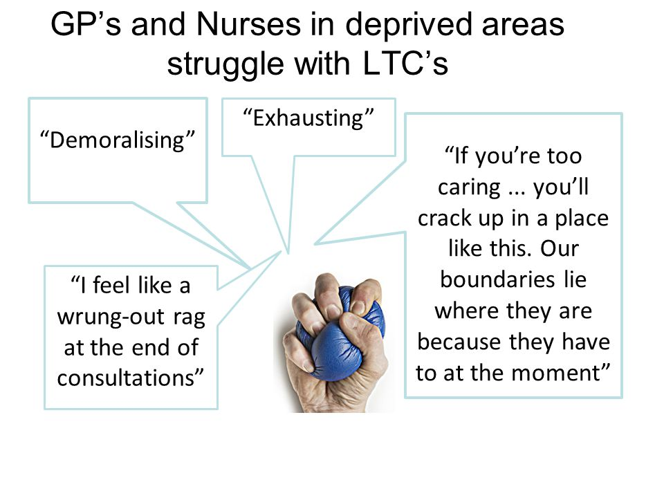 Exhausting Demoralising I feel like a wrung-out rag at the end of consultations If you're too caring...