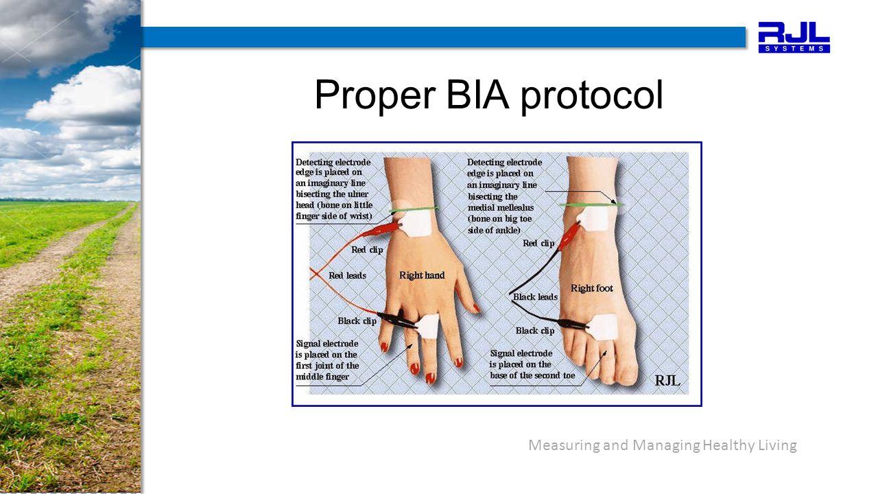 Proper BIA protocol