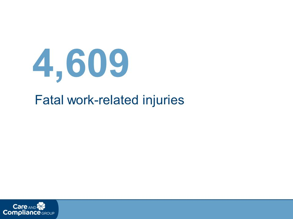 Fatal work-related injuries 4,609