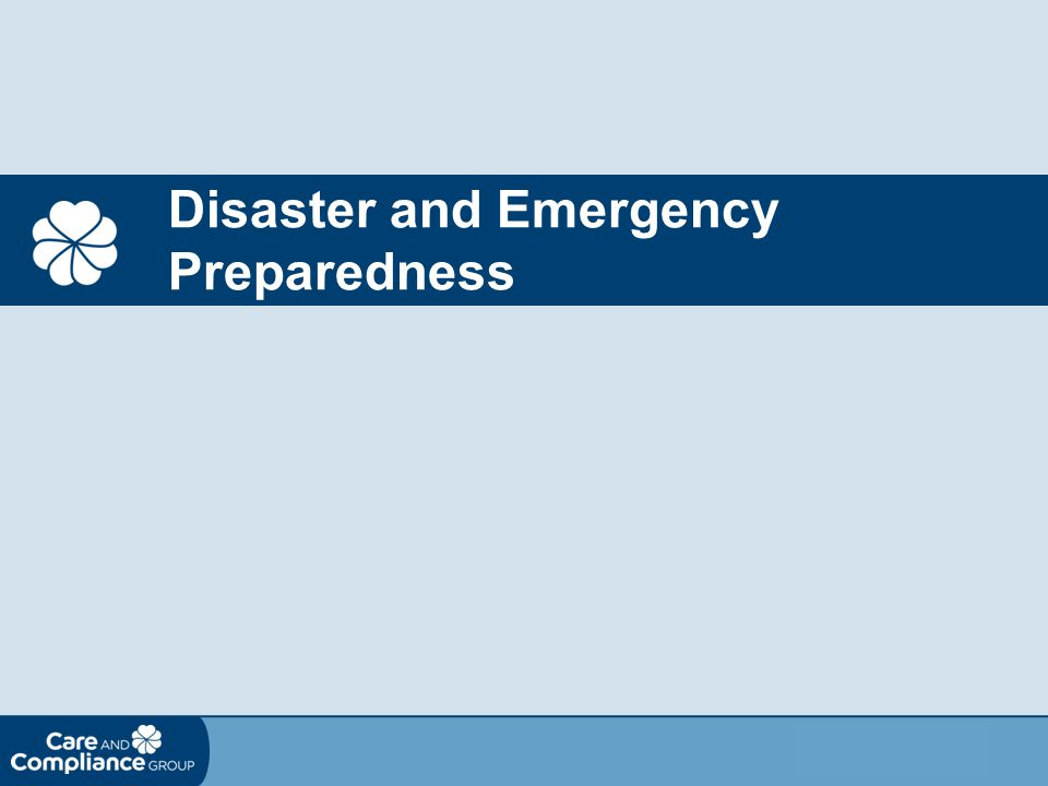 Disaster and Emergency Preparedness
