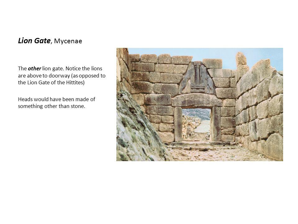 Lion Gate, Mycenae The other lion gate.