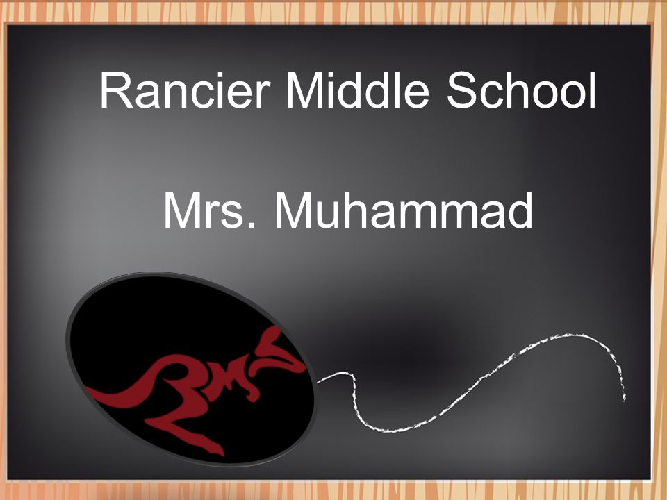 WELCOME TO: 8 th Grade Math/Algebra I Mrs. Perez Rancier Middle School Mrs. Muhammad