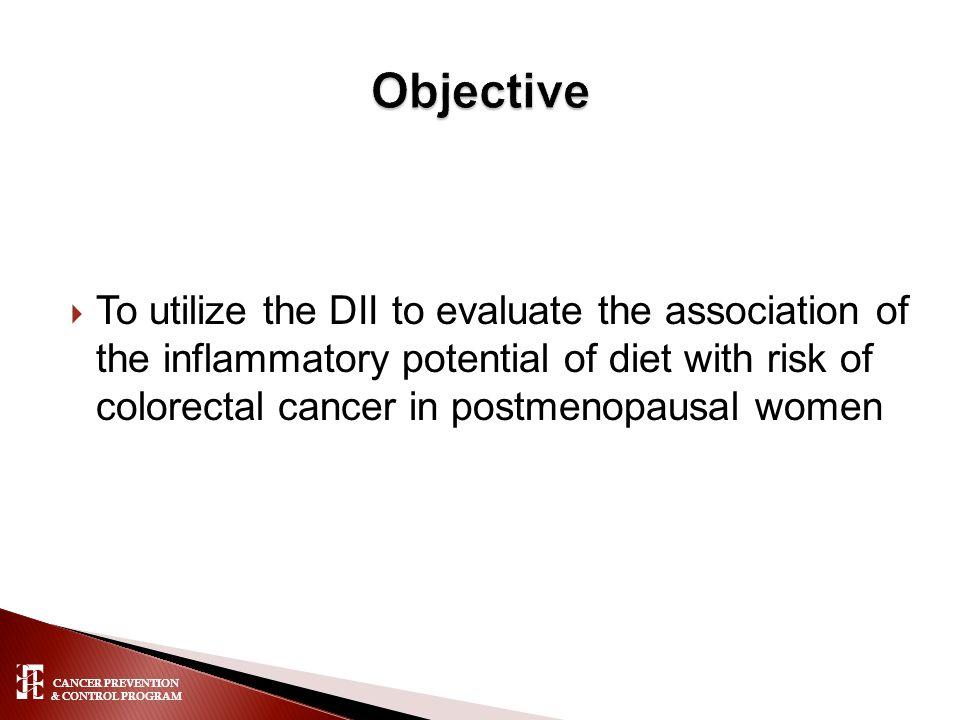 CANCER PREVENTION & CONTROL PROGRAM  Lifang Hou Northwestern Univ.