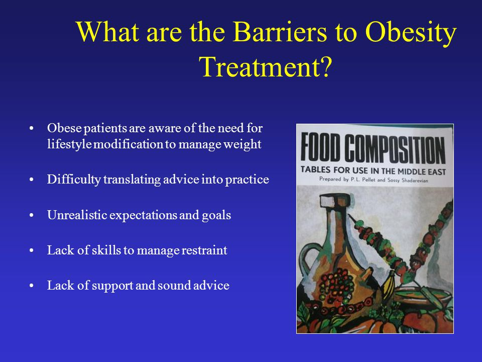 What are the Barriers to Obesity Treatment.