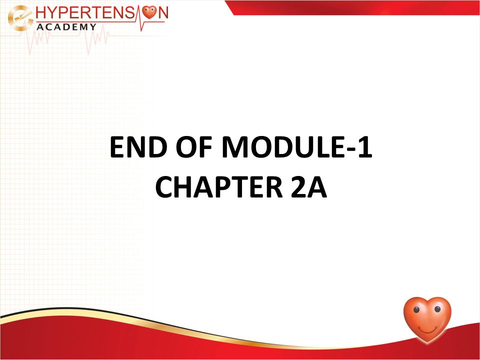END OF MODULE-1 CHAPTER 2A
