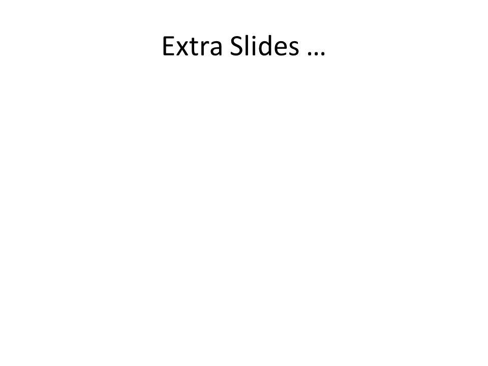 Extra Slides …