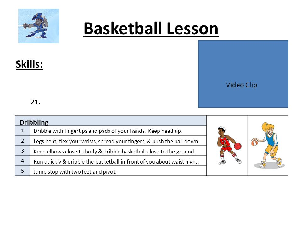 Basketball Lesson Skills: 1 2 3 4 5 22.