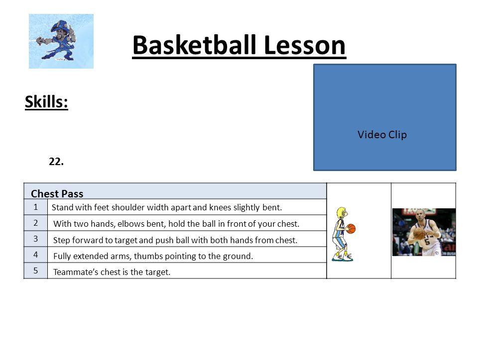 Basketball Lesson Skills: 1 2 3 4 5 23.