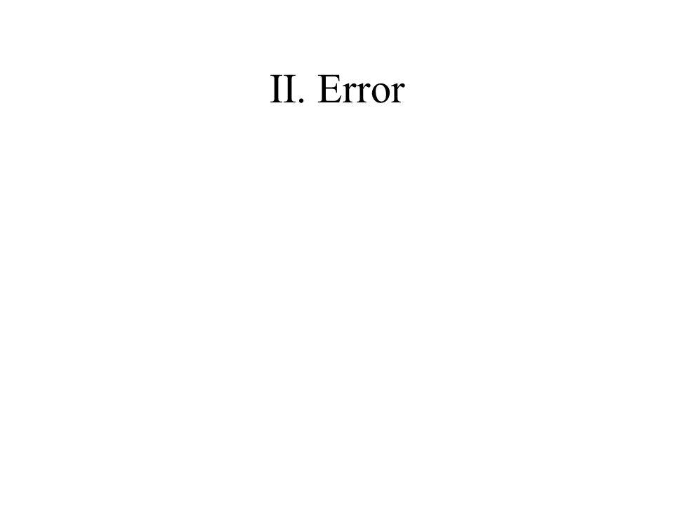 II. Error