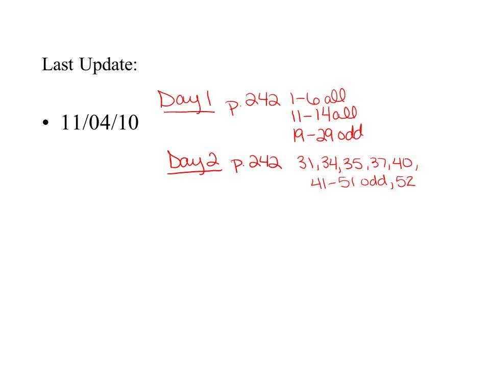 Last Update: 11/04/10
