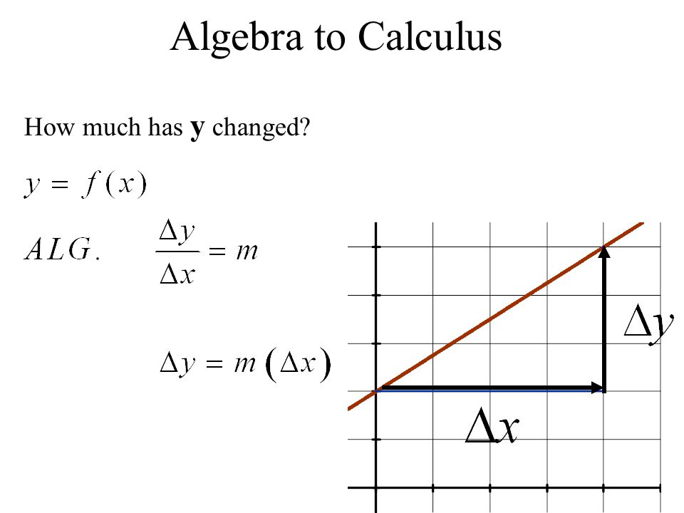 Algebra to Calculus How much has y changed