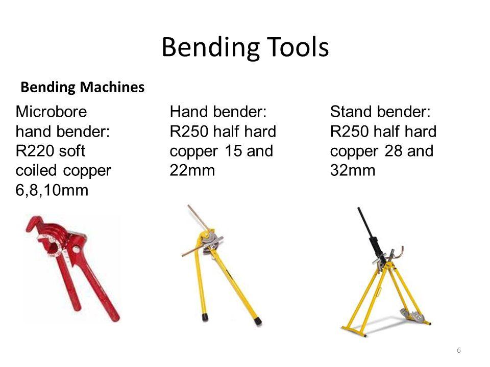 Bending Tools Internal and external springs 7 Bending Springs