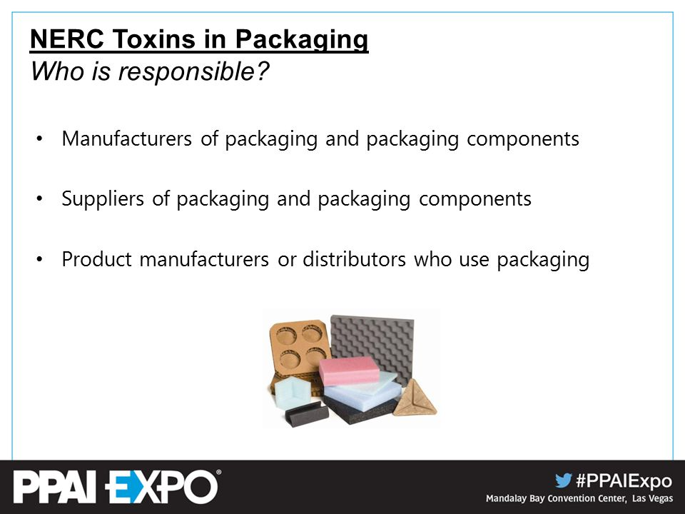 NERC Toxins in Packaging Who is responsible.