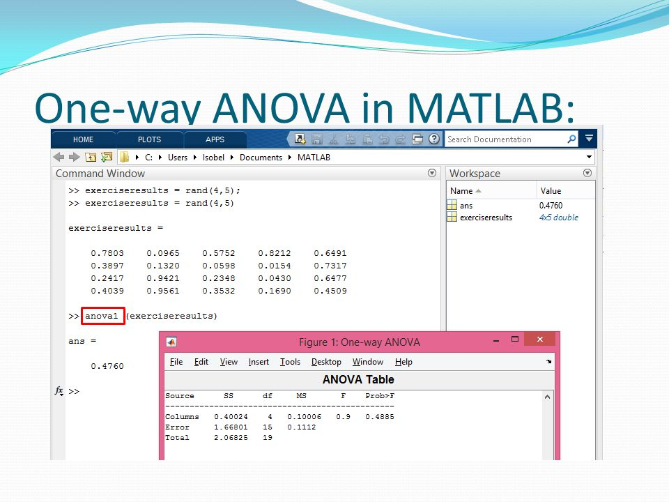 One-way ANOVA in MATLAB: