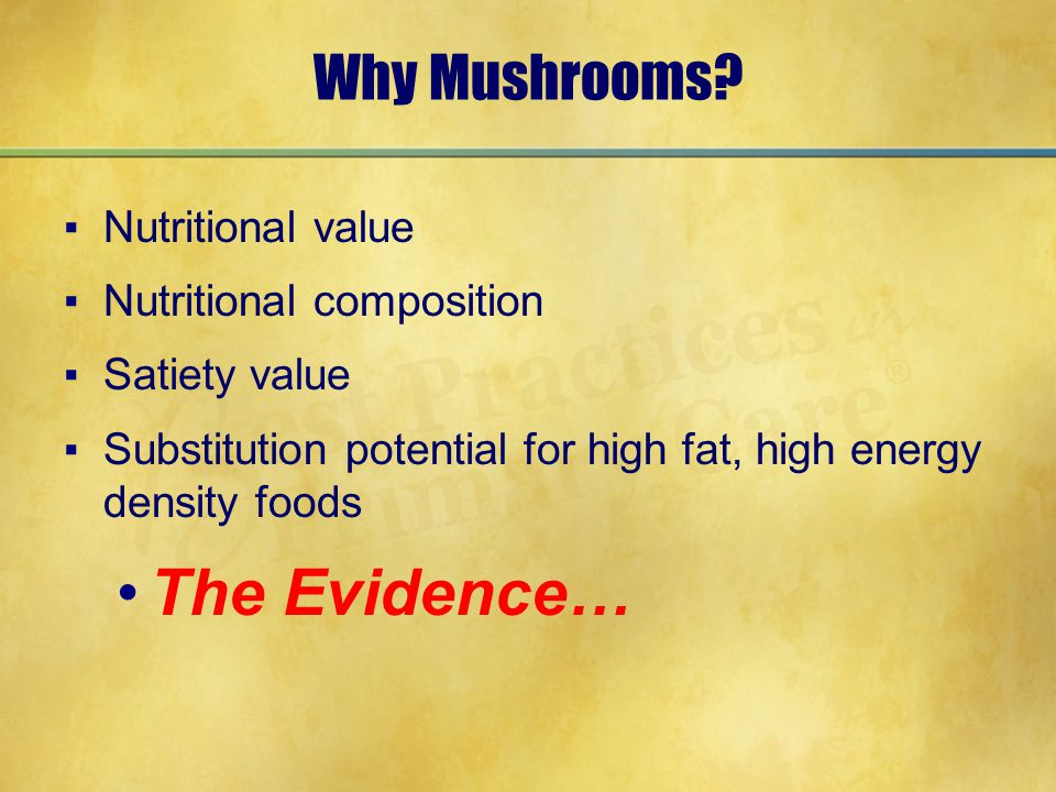 Why Mushrooms.