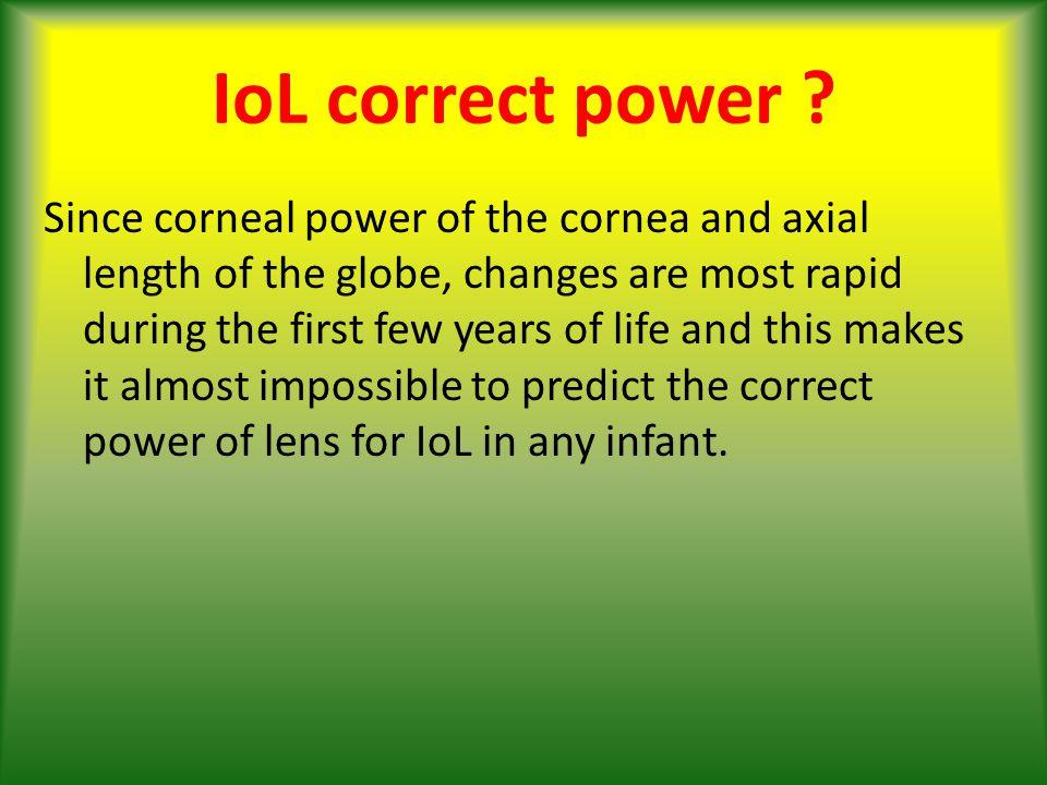 IoL correct power .