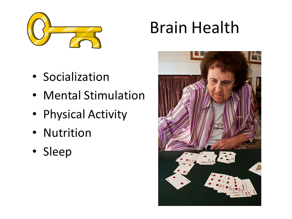 Brain Health Socialization Mental Stimulation Physical Activity Nutrition Sleep