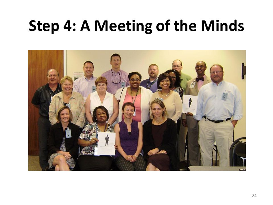 Step 4: A Meeting of the Minds 24