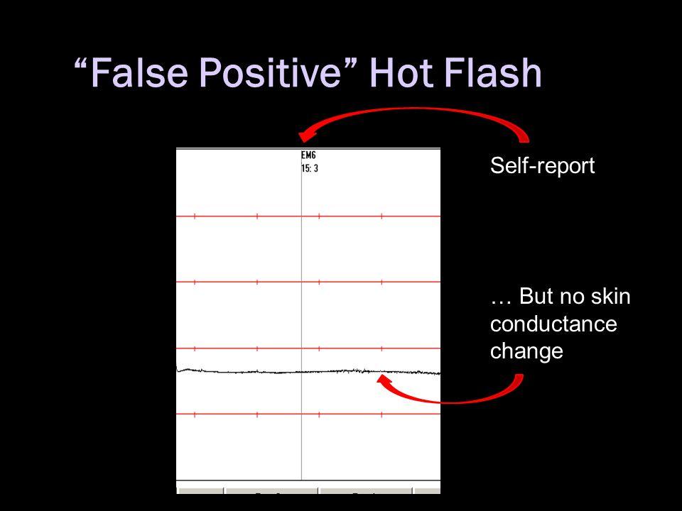 """False Positive"" Hot Flash Self-report … But no skin conductance change"