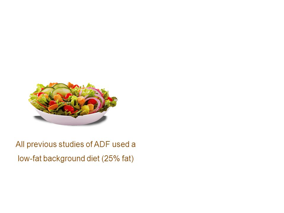 All previous studies of ADF used a low-fat background diet (25% fat)
