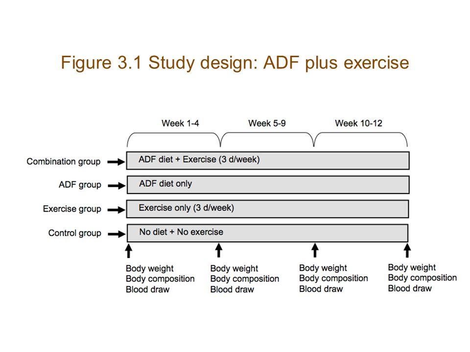 Figure 3.1 Study design: ADF plus exercise