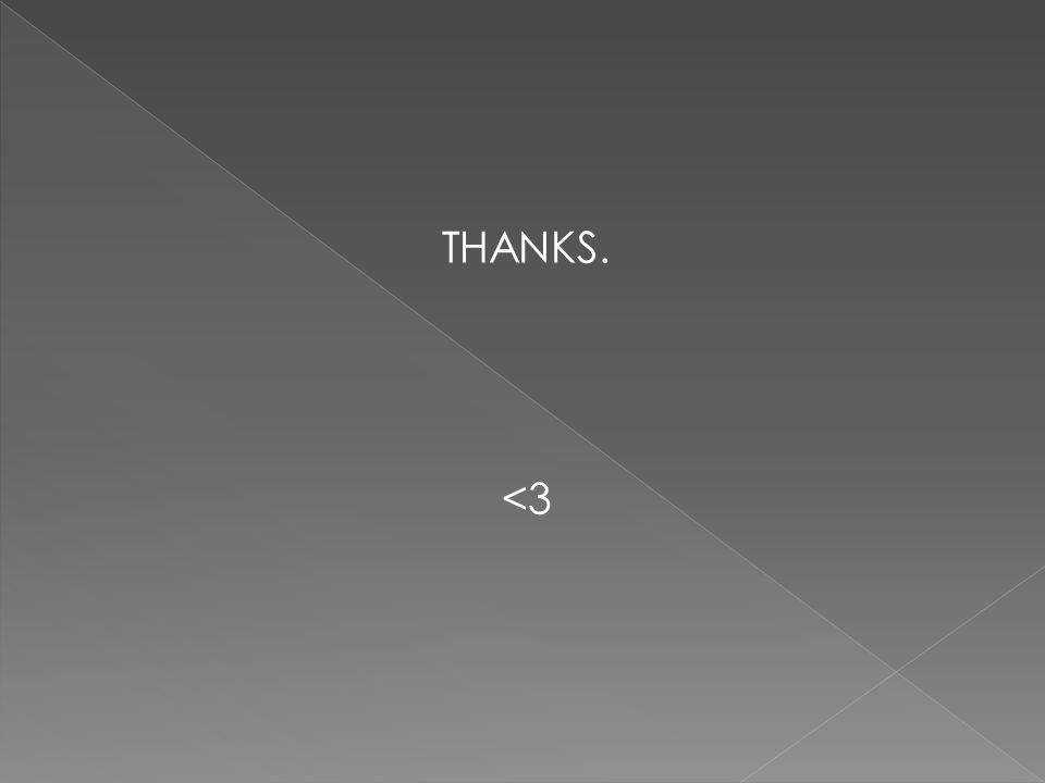 THANKS. <3