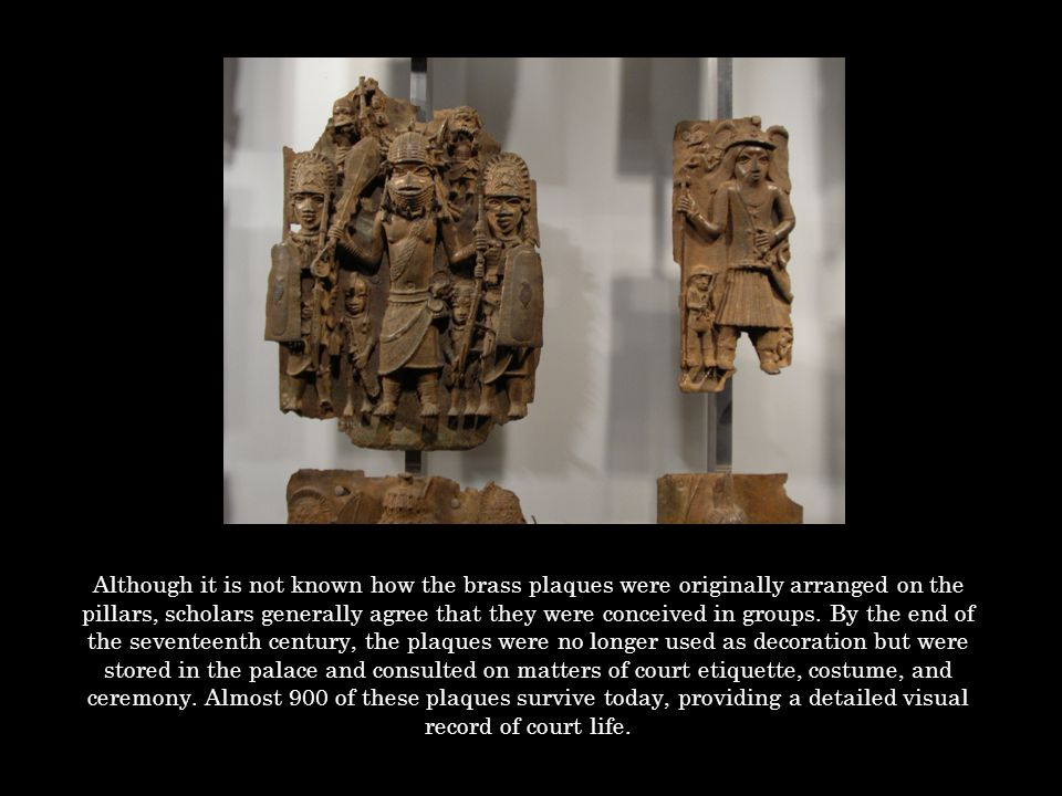 Portuguese mercenaries provided Benin with support against its enemies, while traders supplied the important luxury items Benin so desired; coral beads and cloth for ceremonial attire and great quantities of brass manillas which could be melted down for casting.