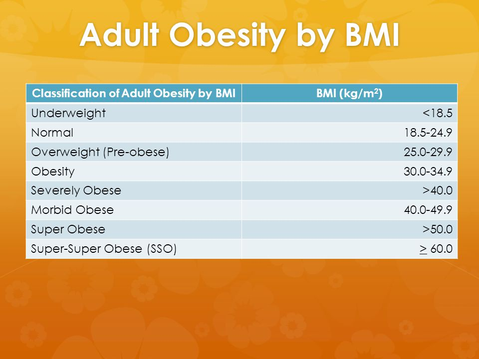 Etiology  Obesity is the imbalance between energy intake (Eating too much) and energy output (not exercising or too little).
