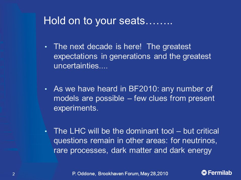 Hold on to your seats…….. The next decade is here.