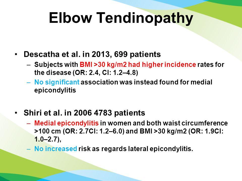 Elbow Tendinopathy Descatha et al.