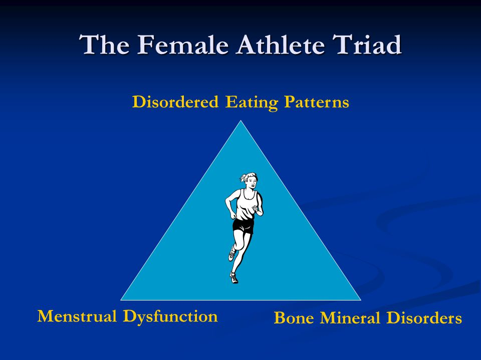 The Female Athlete Triad Disordered Eating Patterns Menstrual Dysfunction Bone Mineral Disorders