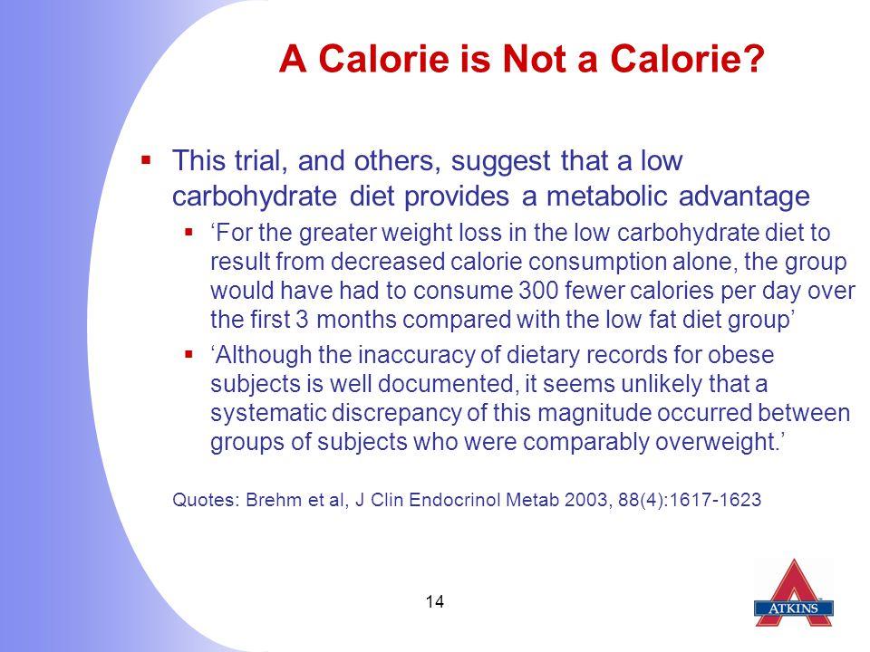 14 A Calorie is Not a Calorie.