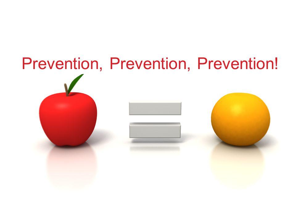 Prevention, Prevention, Prevention!