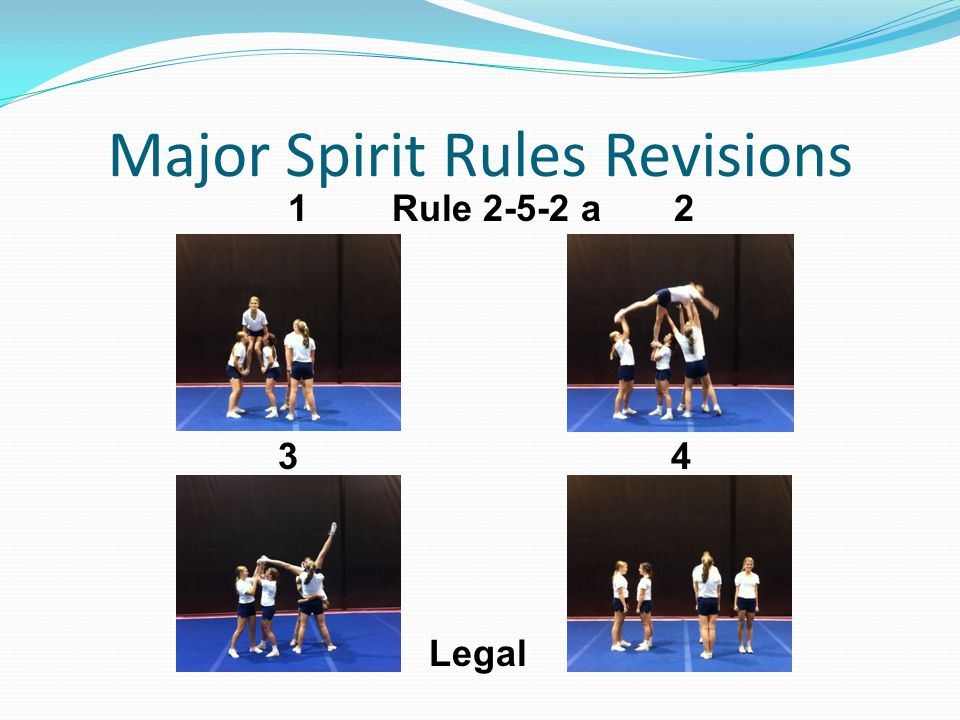 Major Spirit Rules Revisions 1 Rule 2-5-2 a 2 3 4 Legal