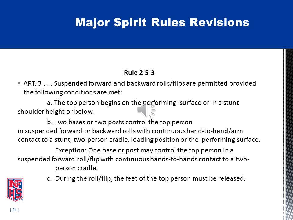 | 21 | Rule 2-5-3  ART. 3...