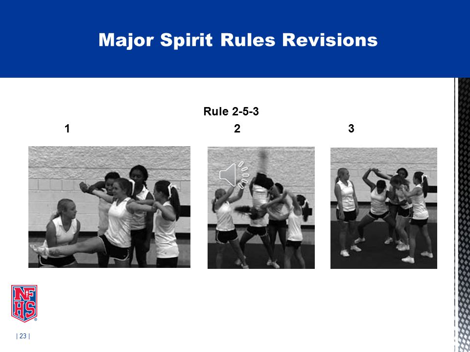 | 23 | Rule 2-5-3 1 2 3 Legal Major Spirit Rules Revisions