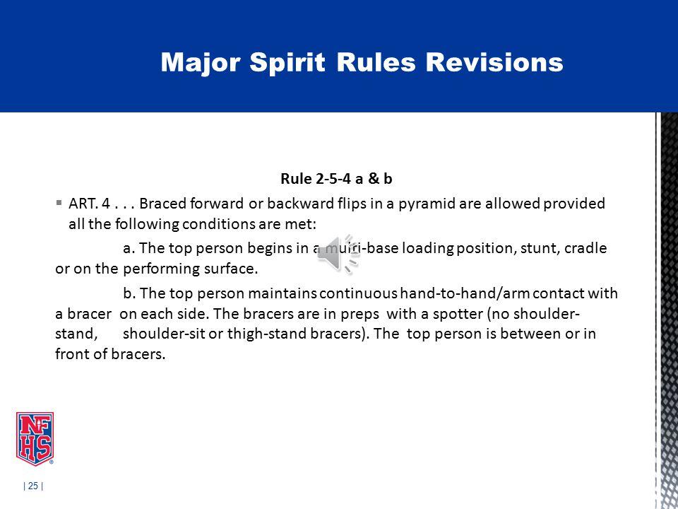 | 25 | Rule 2-5-4 a & b  ART. 4...